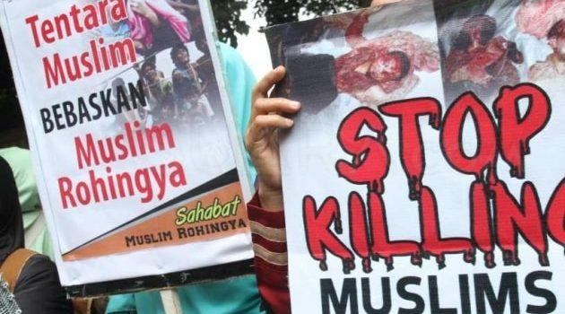 Massa Kembali Gelar Aksi Bela Rohingya di Kedubes Myanmar