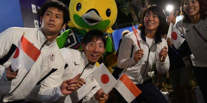Suriah dan Jepang bawa Bendera Indonesia pada Pembukaan Asian Games