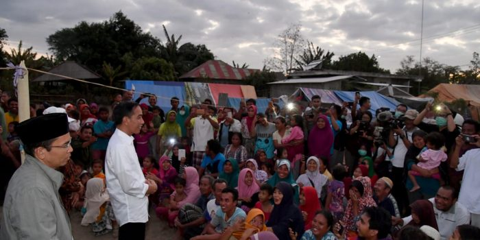 Presiden Kunjungi Korban Gempa Lombok