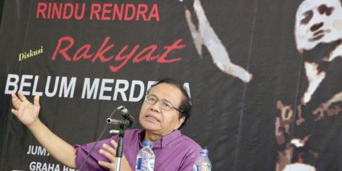 Rizal Ramli Anggap Jokowi Tak Berhasil