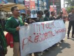 Tolak Presidential Threshold, Mahasiswa Geruduk Gedung MK