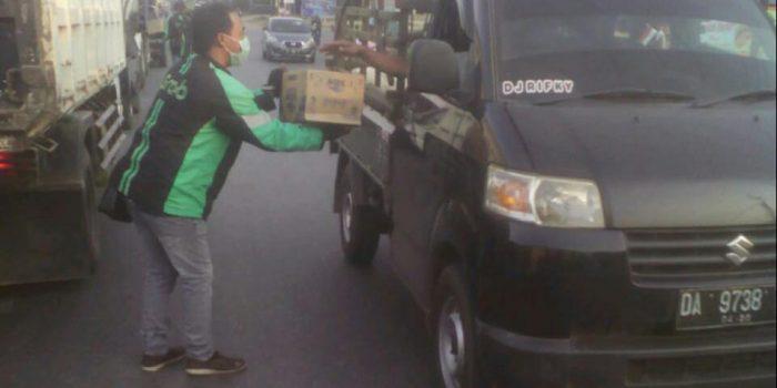 KP dan Mitra Grabbike Banjarbaru Martapura Galang Dana bagi Korban Angin Puting Beliung