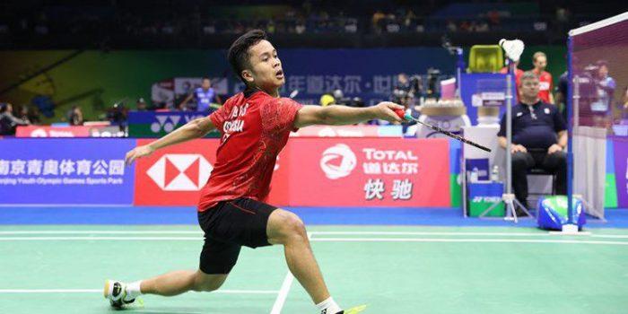 Luar Biasa! Anthony Kalahkan Viktor Axelsen di Perempat Final China Open
