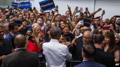 Tarik Dukungan, Trump dan Obama Kampanye Paruh Waktu