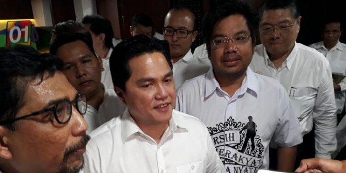 Erick Tohir : 700 Relawan Terdaftar di TKN Jokowi-Ma'ruf
