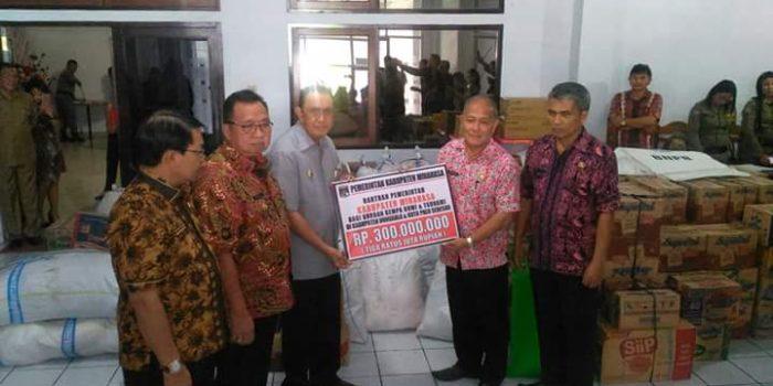 Peduli Sesama, Pemkab Minahasa Berikan Bantuan Rp300 Juta bagi Korban Bencana di Palu dan Donggala