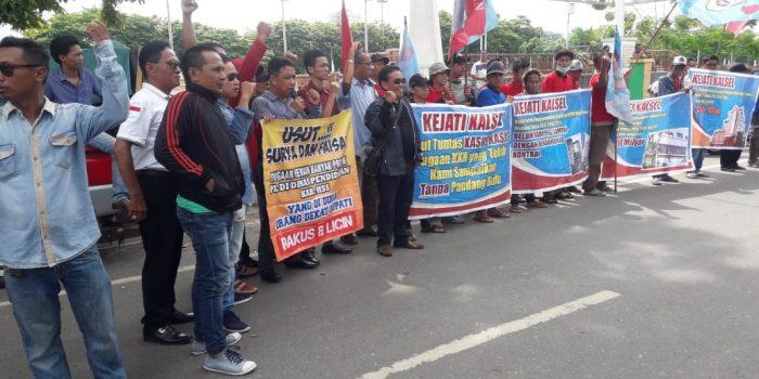LSM Forpeban Demo Surya dan Faisal Diduga Banyak Bermain Proyek PL