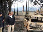 Donald Trump Pantau Langsung Kerusakan Akibat Kebakaran Hutan di California