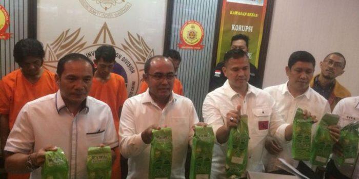 Bareskrim Polri Gagalkan Penyeludupan 31,6 Kg Sabu dari Malaysia