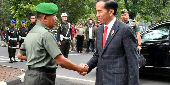 Presiden Hadiri Apel Danrem Dandim Terpusat 2018 di Bandung