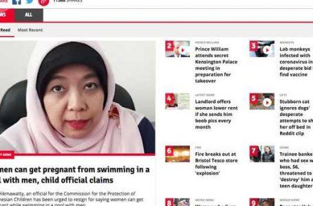 Wow! Berita Hamil di Kolam Renang Jadi Terpopuler Media Inggris