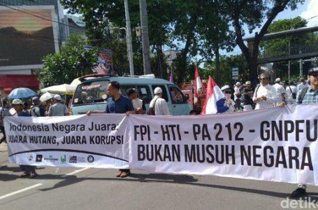 "Spanduk Aksi 212 Bertulis ""FPI-HTI-PA 212-GNPFU bukan Musuh Negara"""