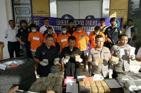 Polisi Sita Ganja Seberat 79,5 Kg dari Tangan Lima Pengedar