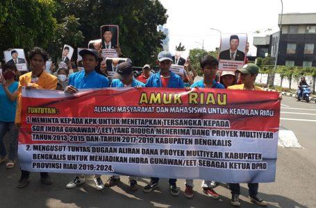AMUK Riau Desak KPK Naikkan Status Ketua DPRD Riau Jadi TSK, Ini Alasannya