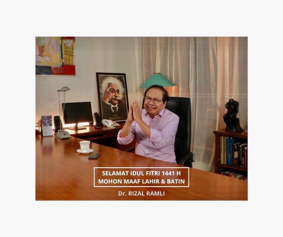 Ucapan Selamat Idul Fitri DR Rizal Ramli
