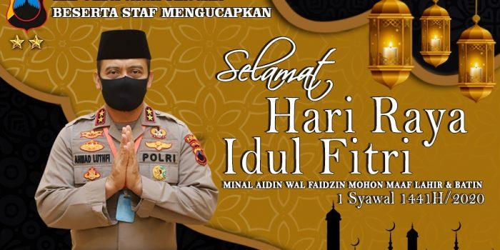 Kapolda Jateng Irjen Pol A Luthfi : Selamat Merayakan Hari Raya Idul Fitri