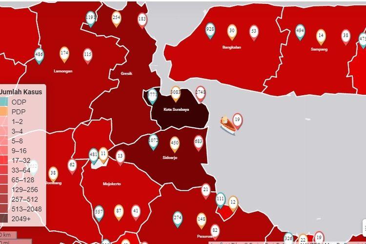 Surabaya jadi Zona Hitam Penyebaran Covid-19