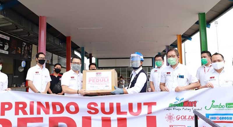 APRINDO Sulut Sumbang 1000 Alat Rapid Test kepada Pemkot Manado