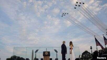 Donald Trump Rayakan Hari Kemerdekaan AS dengan Pesta Kembang Api