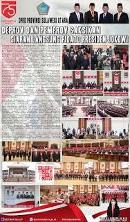Deprov dan Pemprov Sulut Ikuti Pidato Live Streaming Presiden Jokowi