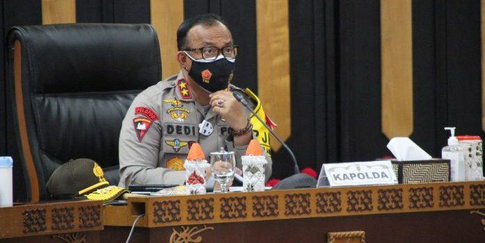 Tegakan Hukum Pilkada, Kapolda Kalteng Hadiri Rakor Online Dengan Menko Polhukam