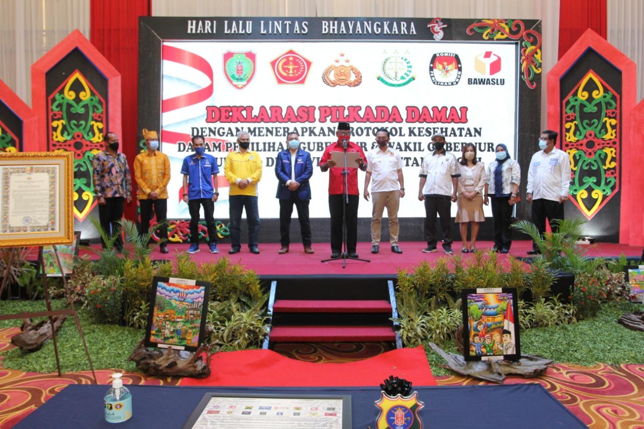 Polda Kalteng Saksikan Deklarasi Pilkada Damai