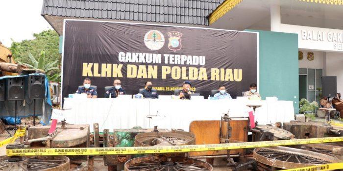 Polda Riau Bongkar Jaringan Sawmill Ilegal