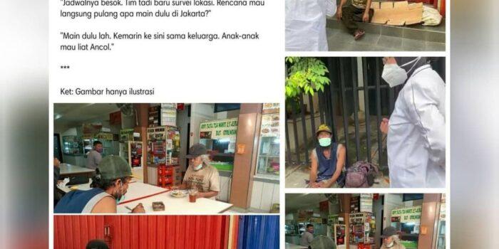 Netizen Duga Tunawisma yang Dijumpai Risma Hanya 'Setingan'