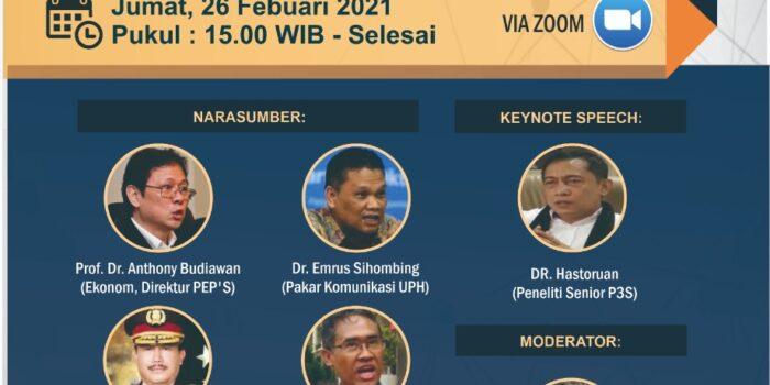 """Usung Tema """"Kejahatan Elektronik dalam Bursa Berjangka"""", Besok P3S dan Esensinews.com Gelar Diskusi Virtual"""
